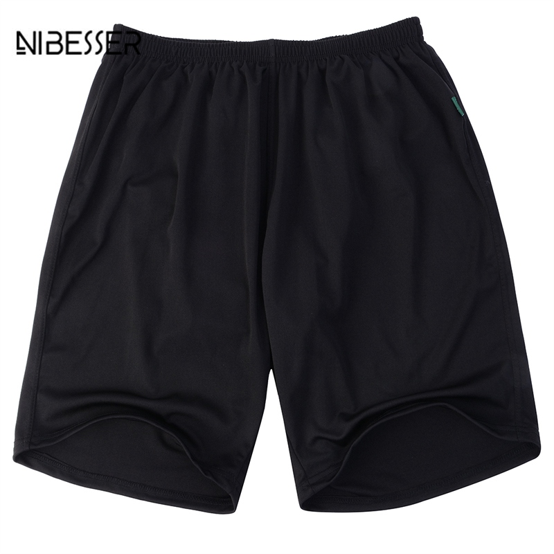 NIBESSER Fashion Mens Casual Summer Shorts Plus Size Black Bottoms Breathable Short Casual Solid Loose Male Summer Shorts 2018