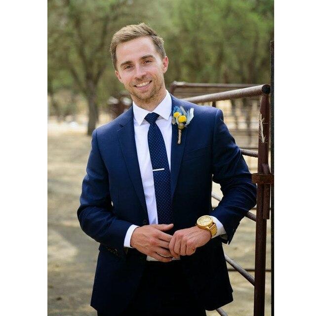 6efb1f49192 Custom Made New Bespoke Men Wedding Groom Tuxedos Groomsmen Best Man Suit  Formal Party Suit Men Suits (Jacket+Pants) Z611