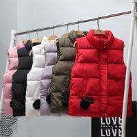 Winter Solid Vest Short Waistcoat