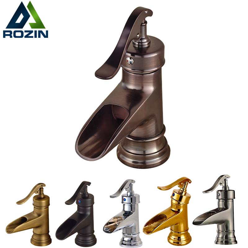 цена на Free Shipping Bathroom Brass Vanity Sink Faucet Deck Mounted Ceramic Cartridge Basin Mixer Water Taps with Hot and Cold