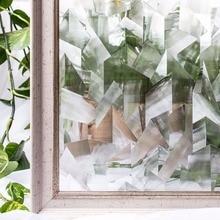 CottonColors Irregular PVC Waterproof Window Films, No-Glue 3D Static Decorative Privacy Glass Sticker (45 x 200Cm)