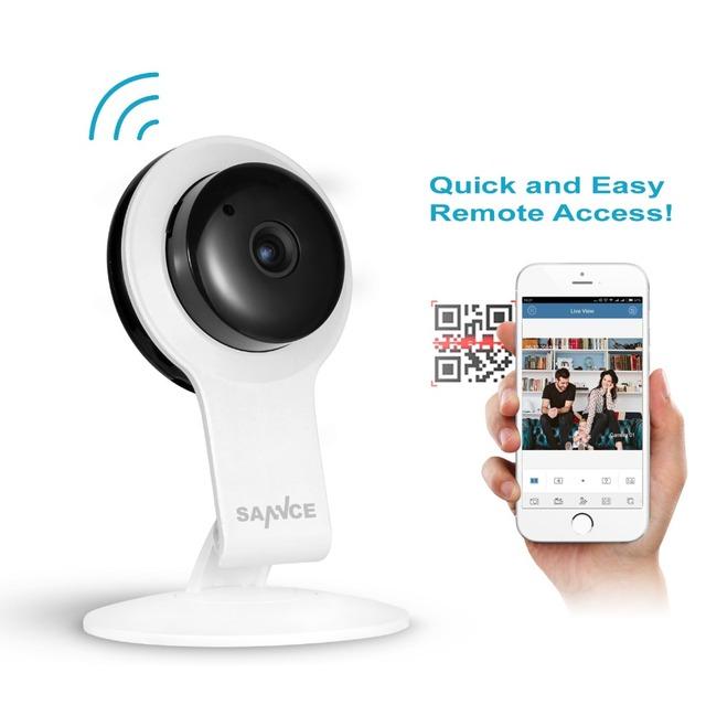 Sannce 720 p cctv interior câmera ip sem fio ir cut wifi monitor do bebê visão câmeras de vigilância de vídeo de segurança em casa