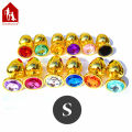 Davidsource Jewled 67mm Golden Metal Jewelry Butt Plug Ass Anal Plug For Anus Sex Receiver Naughty Sex Toy Sex Product