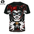 Funny Women T-shirt 3D Printed Alice In Wonderland Red Queen T-Shirt Comfortable Summer Tops Short Sleeve O-Neck TShirt