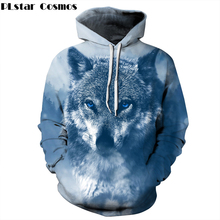 PLstar Cosmos 2018 Autumn Fashion Men/Women Hoodies 3d Sweatshirt Print Cool Animal wolf Thin Hoody Tracksuit Pullover