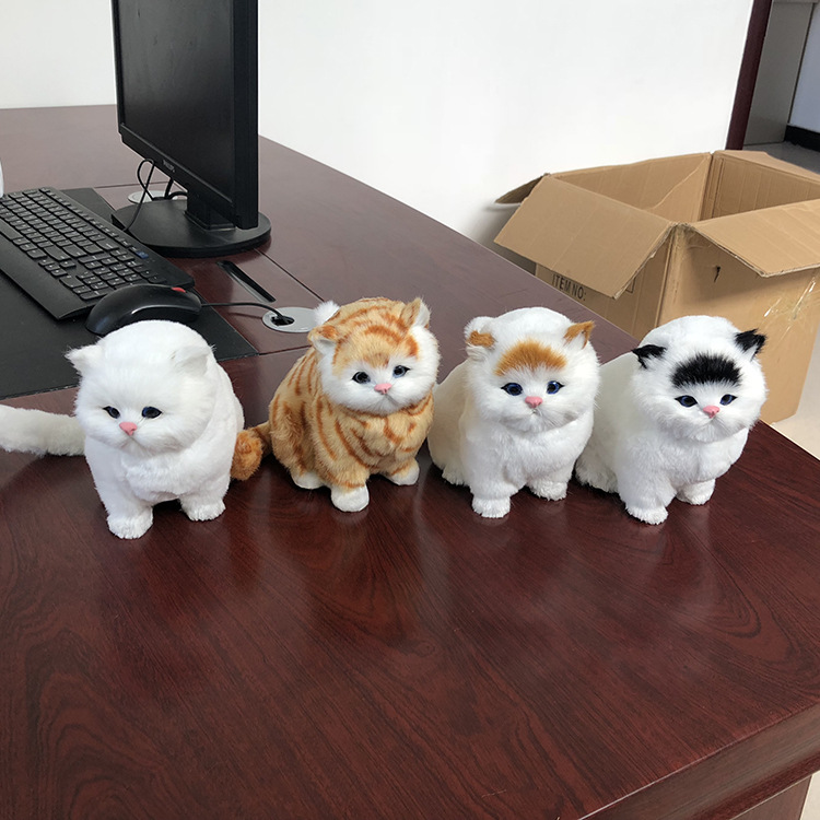 Christmas-Toys Interactive Robot Gift Electric Pet Plush-T Children Meow For Cat Brinquedos