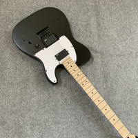 Fast delivery, black tele electric guitar. Seiko production. birthday present. Free shipping.