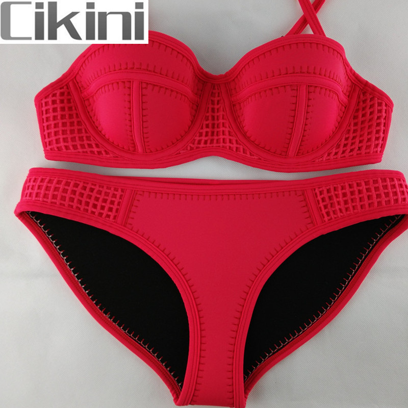 Neoprene Swimwear Women  Bikini Woman New Summer 2018 Sexy Swimsuit Bath Suit Push Up Bikini set Bathsuit TA006 Cikini neoprene swimwear women bikini woman new summer 2017 sexy swimsuit bath suit push up bikini set bathsuit ta008y