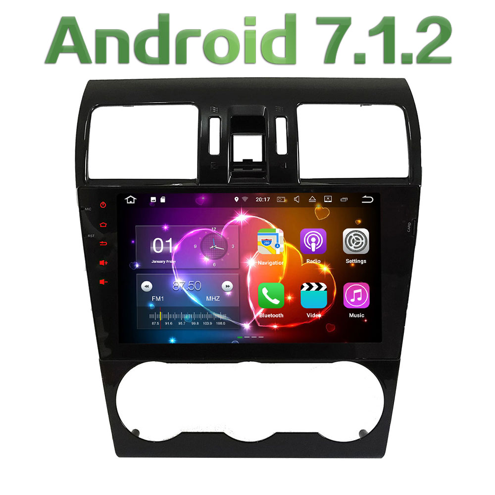 9'' Android 7.1.2 Quad Core 2GB RAM 4G Wifi Car DVD Player Radio Stereo For Subaru Forester WRX XV 2013-2015-2017 GPS Navigation 2gb ram 9 android 7 1 2 quad core 4g wifi swc dab rds car multimedia player radio stereo for subaru forester wrx xv 2013 2017