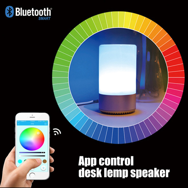 Perfect Touch Sensor+APP Control Intelligent Colorful Night Light Bluetooth 4.2  Speaker TF Card MP3 Player
