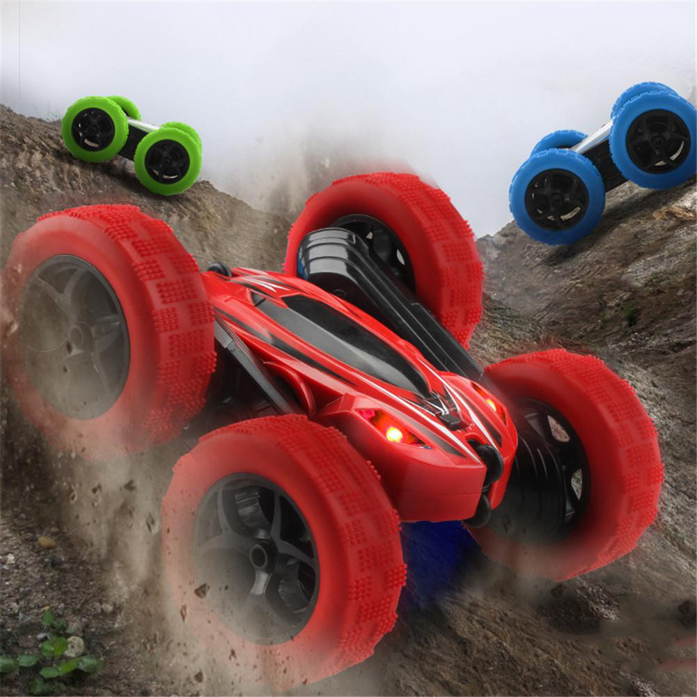 360 Degrees Rotating Double Sided RC Stunt Car With Light 1:24 Modeling Toy For Kids RC Cars Toys  Gifts For Kids
