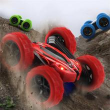 цена 360 Degrees Rotating Double Sided RC Stunt Car with Light 1:24 Modeling Toy for Kids RC Cars Toys 2019 Gifts for Kids онлайн в 2017 году
