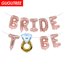 Decorate 16inch miss to mrs bride be foil balloons wedding event christmas halloween festival birthday party HY-149