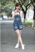 Joyinparty женские джинсовые огорчает Стиль Повседневный комбинезон спереди карман с клапаном короткие комбинезоны для девочек джинсы-варёнки комбинезон