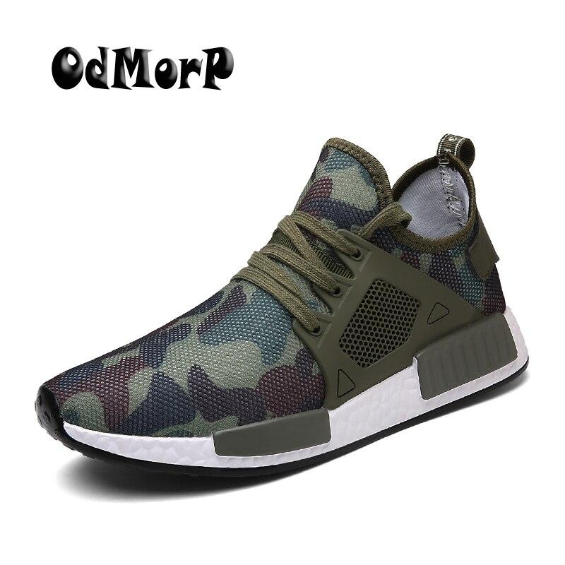 ODMORP Hommes Casual Chaussures Camouflage Chaussures Hommes Mode Sneakers Grande Taille 39-48 Léger Respirant D'été Formateur Chaussures de Marche