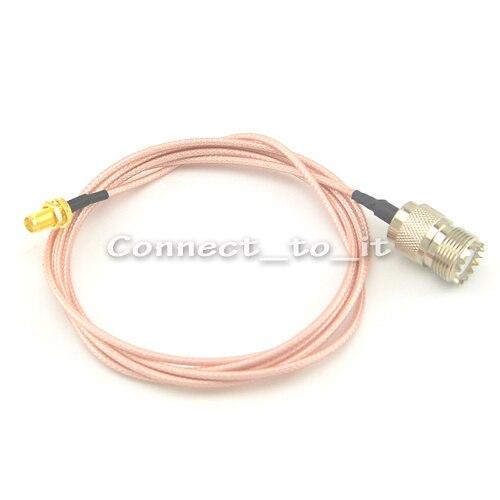 91f270259 Frete grátis (10 peças/lote) UHF Anteparo Fêmea para Jack Fêmea SMA Jack  Conector RG316 1.5 M Cabo