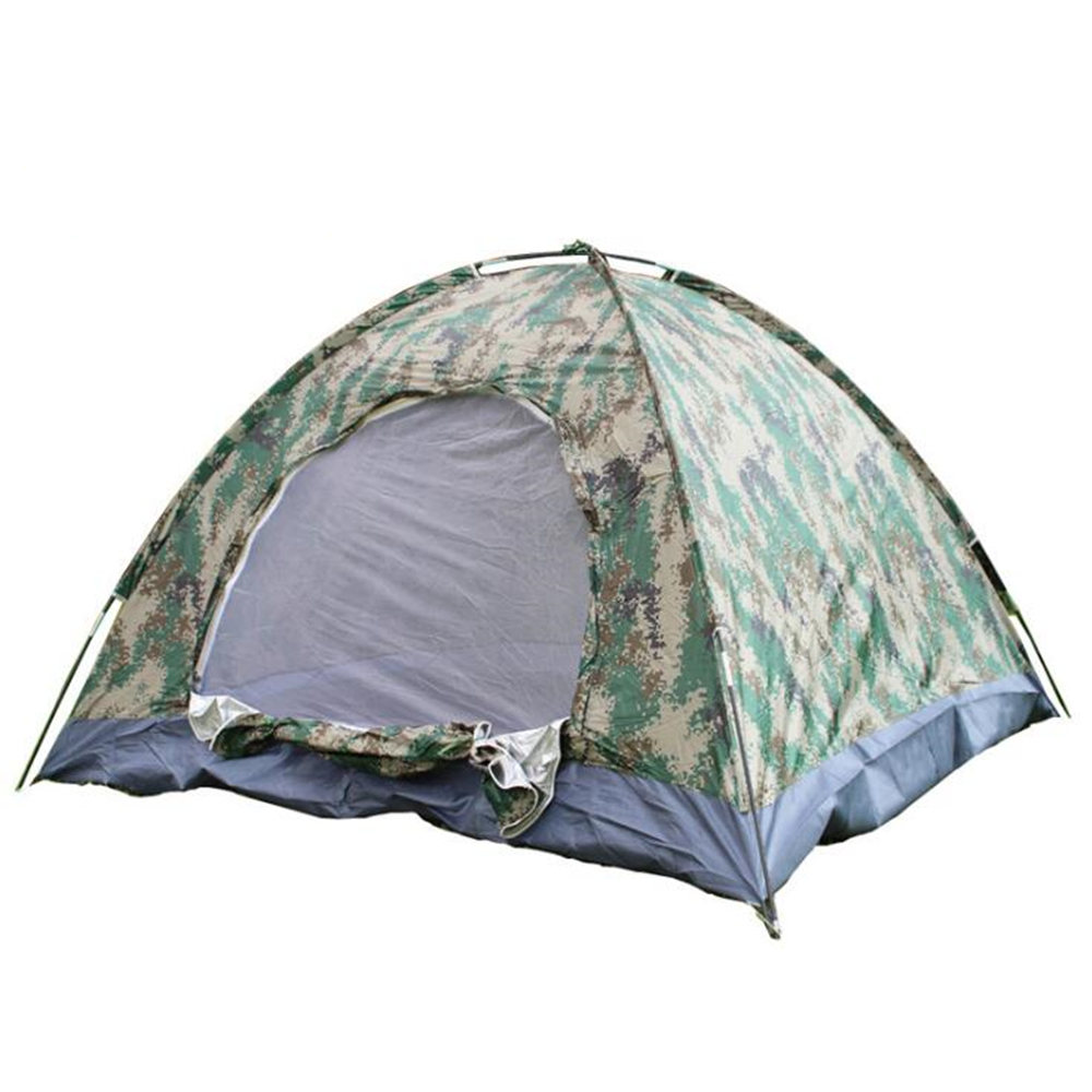 Digital 3-4 Peoples Tent Man Outdoor Survival Camping Camping Single Layer Tents outdoor double layer 10 14 persons camping holiday arbor tent sun canopy canopy tent