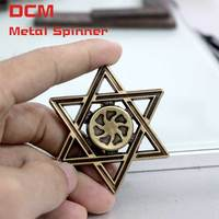 Fidget Spinner Brass Color Mogen David Style Anti Stress Finger Spiner Gyro EDC Gifts For Adults