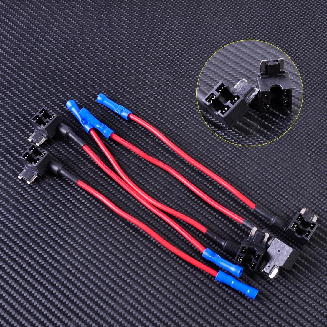 5PCS Plug with Wire ATT APS Auto Low Profile Mini Fuse Holder 32V