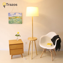 TRAZOS LED Floor Lamps Modern Minimalist Creative Wood Floor Lamp Can Adjust The Solid Wood Floor Lamp For Bedroom Living Room(China)
