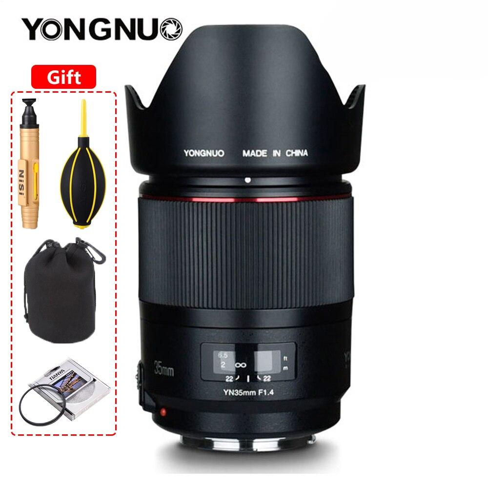 Объектив YONGNUO YN35MM F1.4 с широкоугольным объективом для камеры Canon с яркой апертурой для Canon 600D 60D 5DII 5D 500D 400D