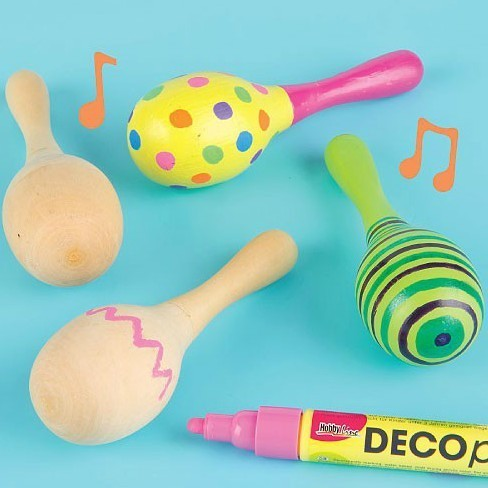 4PCS/LOT.Paint your own maracas,New baby gift,Baby rattle,Unfinished wood toy,kids toys,educational toys,4x12cm,Free shipping