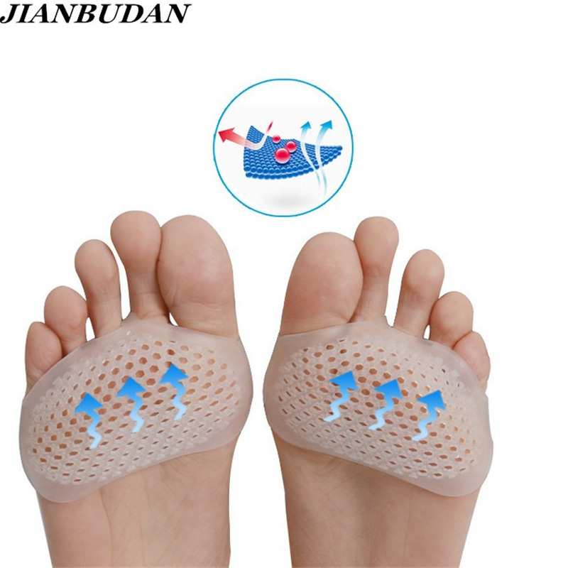 Soft Silicone Gel Toe Pads High heel shock absorbers anti slip metatarsal foot Front palm pad Feet Pain Foot Foot Healthcare super soft vibration silicone gel insoles invisible high heels sottopiede pad non slip half a yard of the ball of your foot ins