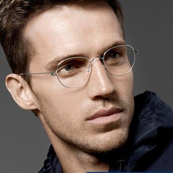 Denmark Eyewear Brand Pure Hand Made Vintage Oval glasses frame eyeglasses myopia reading men and women Original Case - discount item  47% OFF Eyewear & Accessories