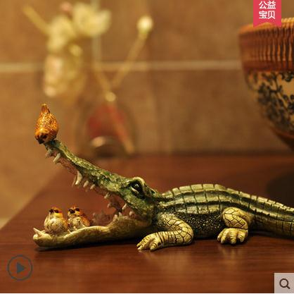 Cute crocodile resin crafts decorations, Nordic Home Decoration living room decorations study cartoon animalsCute crocodile resin crafts decorations, Nordic Home Decoration living room decorations study cartoon animals