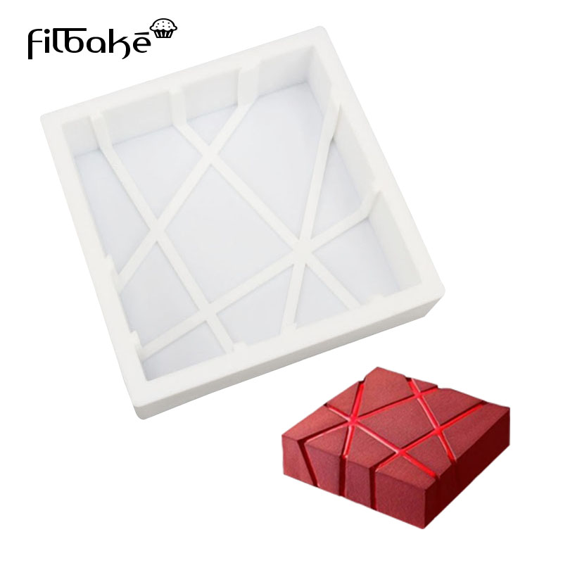 FILBAKE Cube Square Shaped 3D Silicone Cake Molds Baking Chocolate Muffin Desserts DIY Cake Pan Decorating Tools