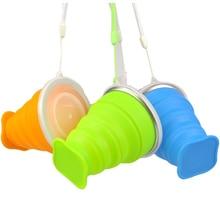купить 270Ml Travel Cup Silicone Retractable Folding Bottle дешево