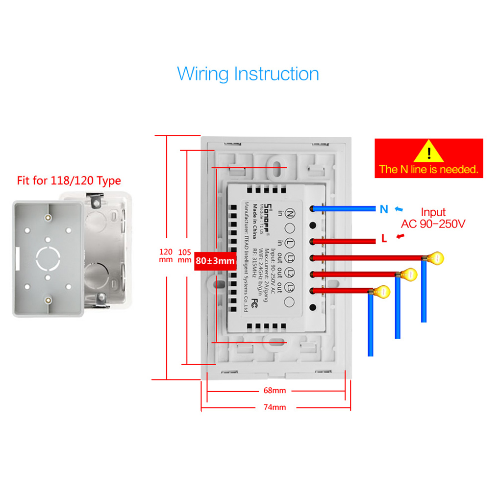 small resolution of certification ce rohs fcc package includes type1 1 one gang light switch type2 1 two gang light switch type3 1 threegang light switch