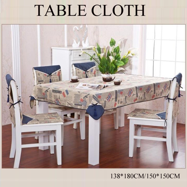 Attractive Modern Tablecloth Linen Fabric Dining Tablecloth Table Cloth Square Table  Cover Free Shipping