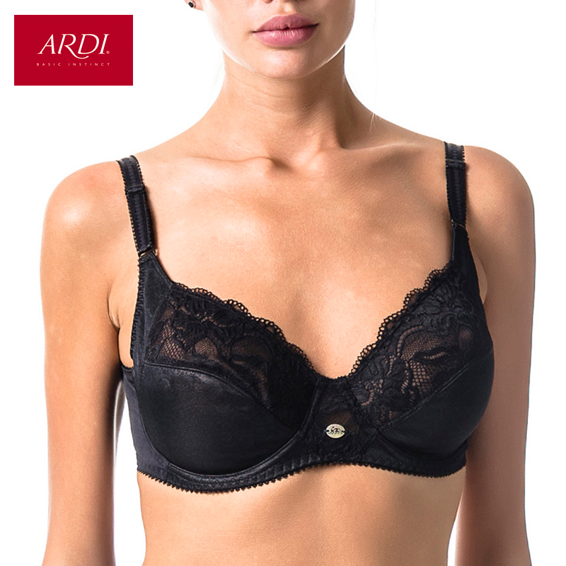 Woman s Bra Lace Black Soft Cup Cotton Lining Large Size Big Breast Support 80 85