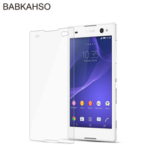For Sony Xperia C3 Dual Tempered Glass Screen Protector 2.5D 9h Safety Protective Film for SONY C 3 D2502 D2533 D 2502 2533 tempered glass screen protector film for sony xperia c3 transparent