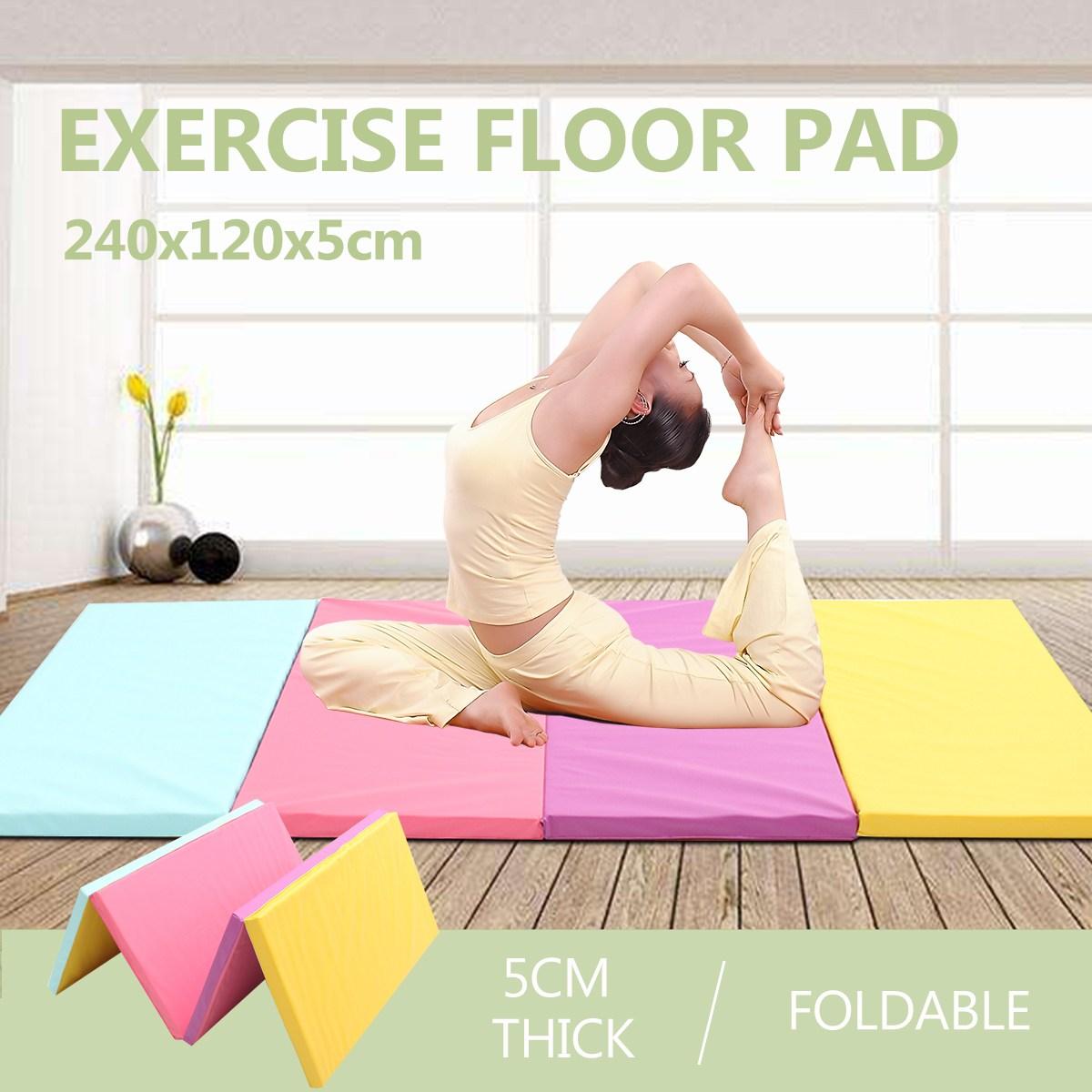 8FT 4 Pliable Tapis De Yoga PU En Cuir Gymnastique Tapis Plancher De Danse Exercice Sport Formation de Remise En Forme Tapis Home En Plein Air Gym Couverture