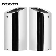 Vehemo Rear Parts Exhaust Pipe Muffler 2PCS Chrome Stylish Exhaust Stainless Steel Automobile for Passat Golf Audi A4 A6 Premium