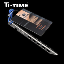 Ti-time Outdoor Camping Titanium Tent V-shpaed Peg 1 Piece 16cm lightweight stainless Nail tent accessory