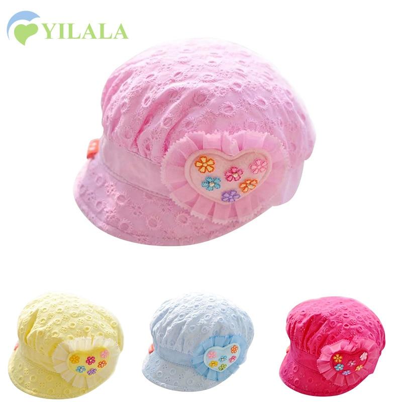 Bunga Renda Bayi Topi Bordir Gadis Topi Matahari Musim Semi Musim - Pakaian bayi