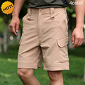 New2016 Summer TAD Soldiers Cargo Army Military Solid Multi Pocket Stretch Straight Soft Shell Camo Combat Breathable Shorts Men