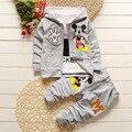 3 Unids Ropa de Niños Sets 2017 Nuevo Otoño Invierno Niño Niños Ropa de Niño Con Capucha Camiseta de la Capa de la Chaqueta Pantalones Spiderman