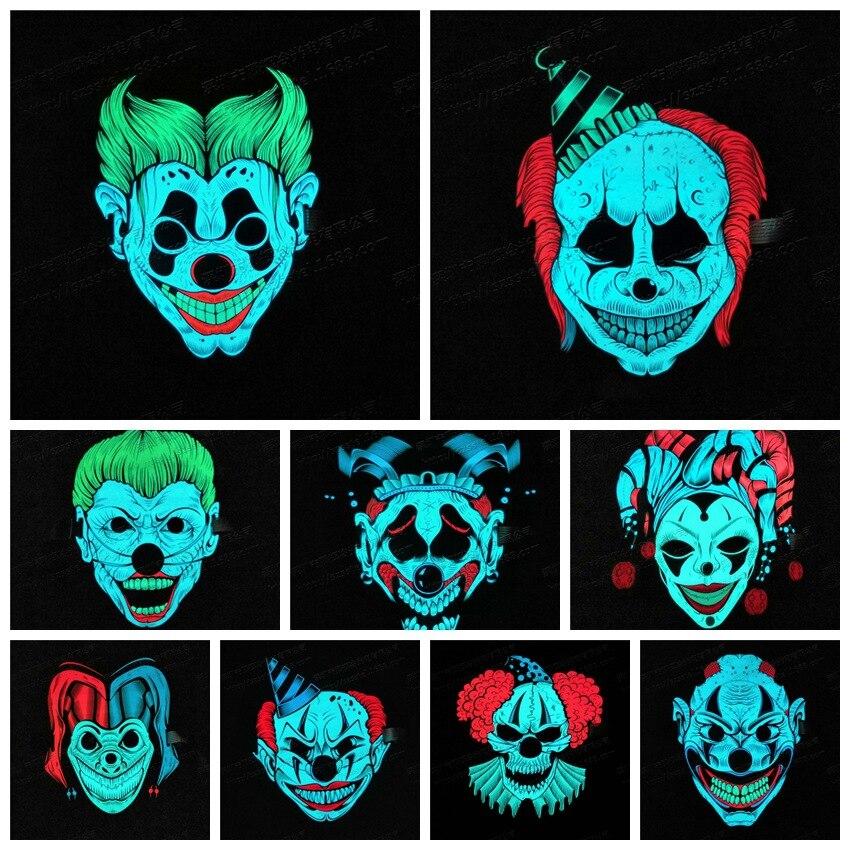 Halloween LED Lumière Masque Nouveau design Sonore Activé Masque Lumineux Rougeoyant Flash 3D Animal Masque Contrôle Vocal Parti Masques