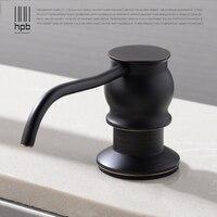 HPB Oil Rubber Bronze Kitchen Liquid Soap Dispensers Deck Mounted Soap Dispenser For Kitchen Built In