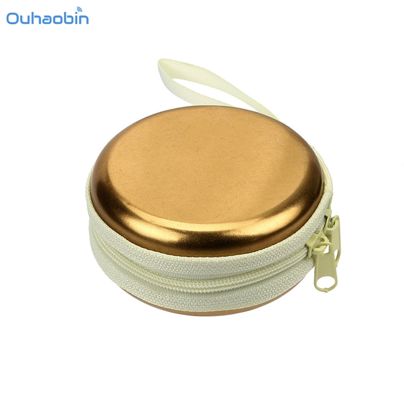 Ouhaobin Fashion Portable Mini Earphone Case Coin Purse Headphone Bag Cable Storage Boxes Top Popular Drop Shipping Sep14