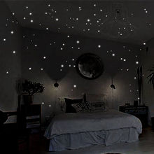 HOT 407pcs Glow in the Round Dot Dark Star Stickers Luminous Vinyl Wall Like In The Night Romantic Party Birthday