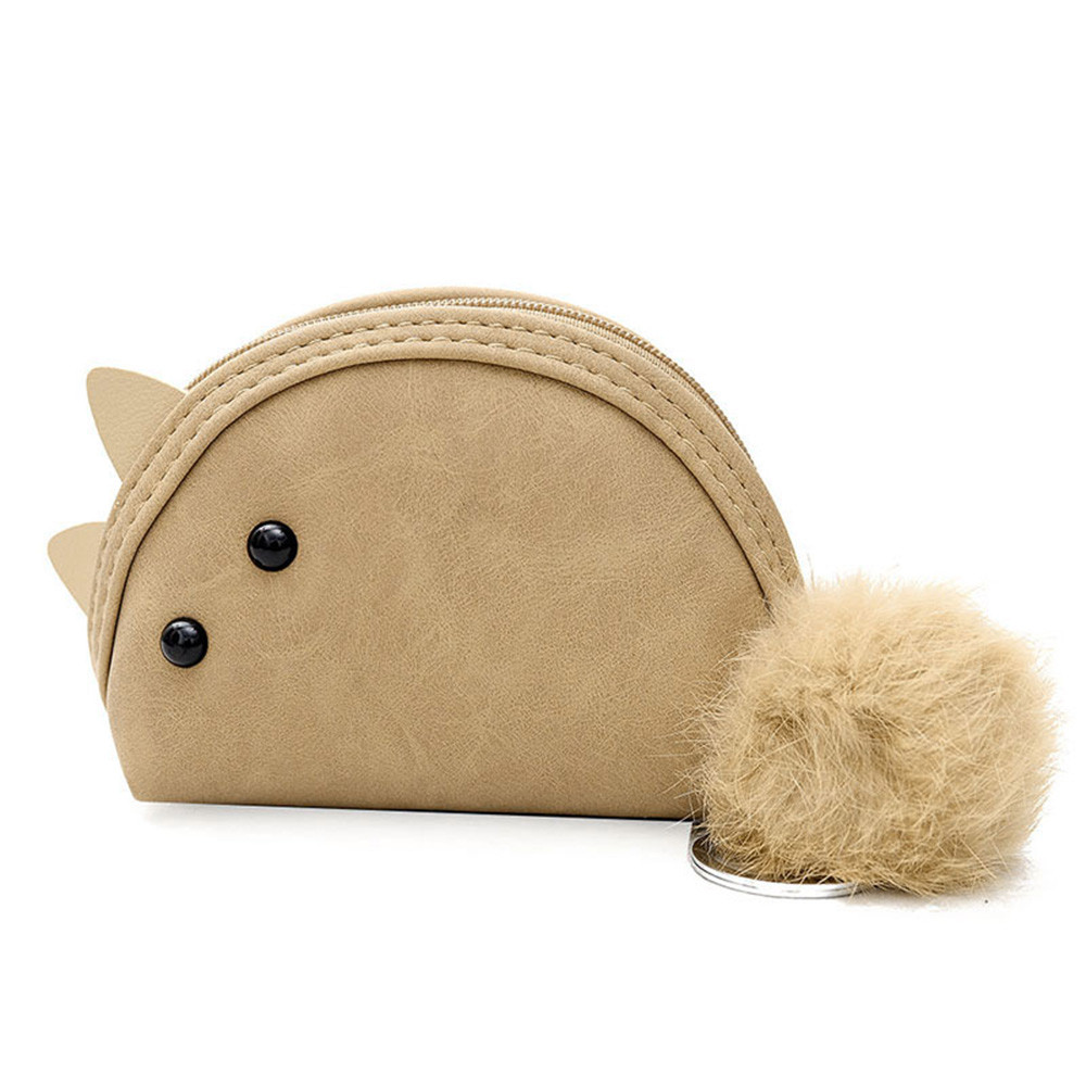 Womens Purse Fashion Cute Animal Ears Handbag Wallet Zipper Bag Key Bag Tote Ladies Coin Purse Freeshipping Coin Bags Girls A9