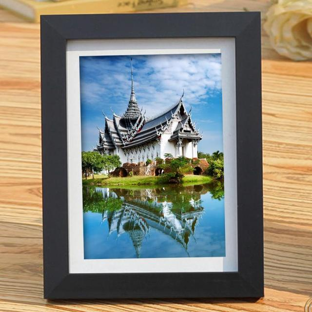 Black Simulation Wood Table Photo Frame Picture A4 Frames Complete