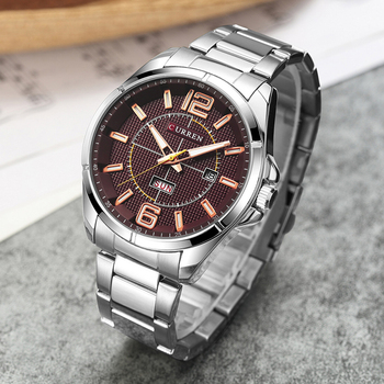 CURREN Men's Luxury Water Resistant Calendar Date Day of Week Quartz Watches 1