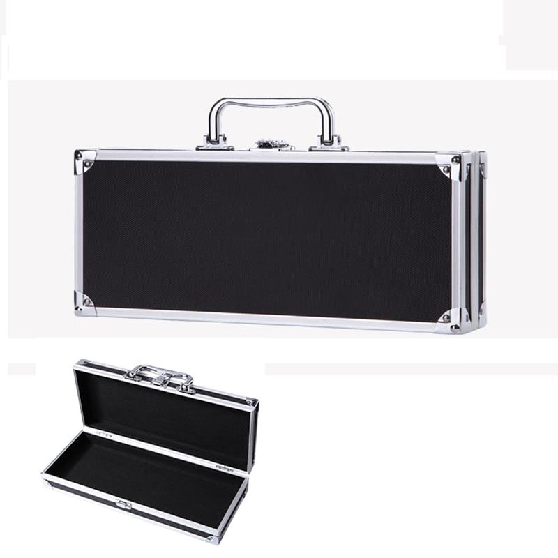 350x145x70mm Toolbox Aluminum Tool Box Portable Instrument Box Storage Case Suitcase Travel Luggage Organizer Case