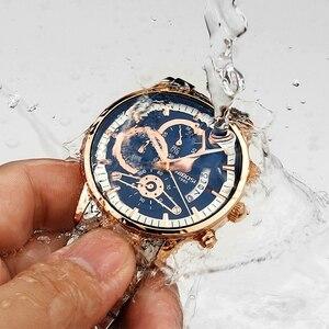 Image 4 - NIBOSI mężczyźni zegarki Top marka luksusowe Chronograph mężczyźni zegarki sportowe wodoodporny pełny stalowy zegarek kwarcowy męski Relogio Masculino
